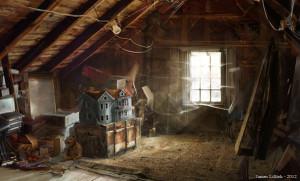 attic 2 with dolls